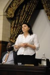 Katy Clark MP addresses the audience